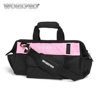 WORKPRO 16 Pink Tool Bag 600D Polyester Shoulder Bag Waterproof Tool Bags