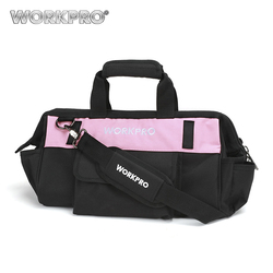 WORKPRO 16 Tool Bag per Strumenti Hardware di Immagazzinaggio 600D Poliestere Impermeabile Borsa A Tracolla Borse per Utensili