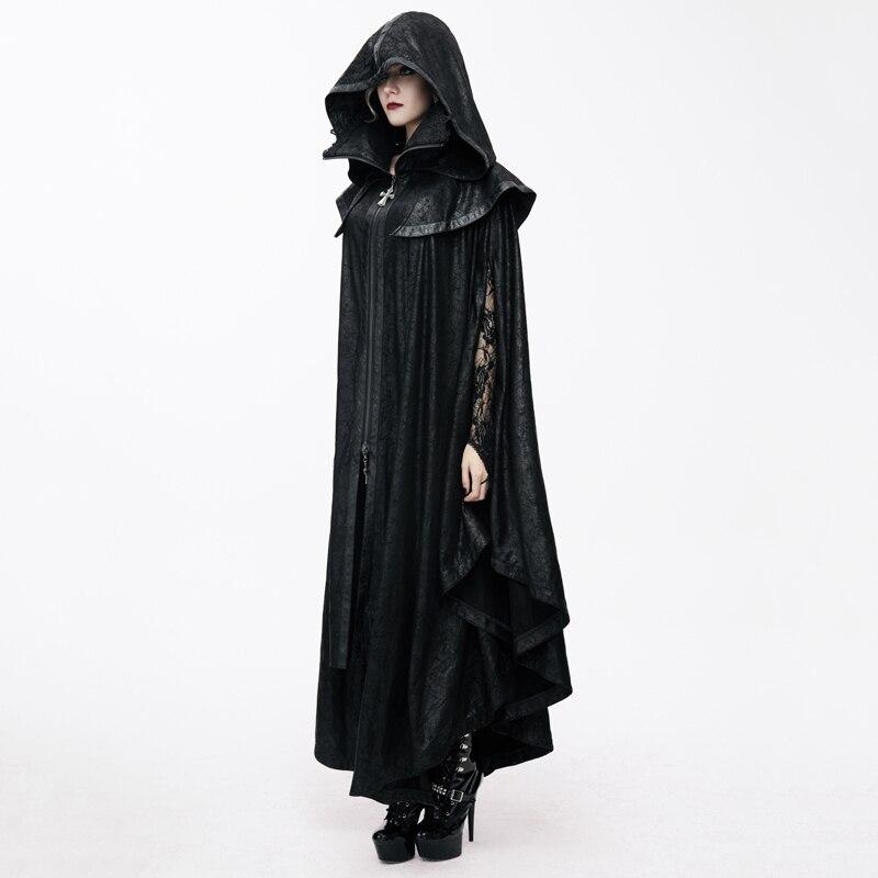 Diablo de moda Steampunk durante mucho tiempo, las mujeres capa abrigos Punk gótico Halloween Conde vampiro murciélago capa estilo traje Casual abrigos - 2