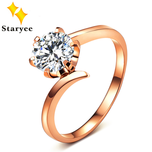 Charles Colvard Moissanite Engagement Ring 1 Carat VVS D Color Diamond Ring For Women Solid 18K Au750 Rose Gold Free Engraving