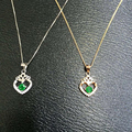 Collares Qi Xuan_fine Jewelry_natural Colombian Emeralds Heart Necklaces_s925 Solid Pendant Necklaces_factory Directly Sales