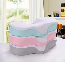 High Quality Memory Foam Anti Wrinkle Pillow Ergonomic Curve Improve Sleeping Pillows Perfect Concave Headrest Neck Support