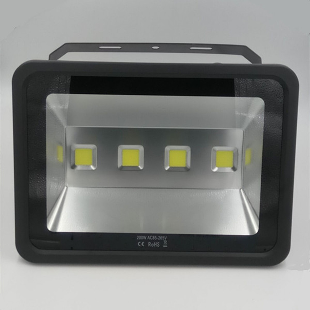 LED flood light 200W Black AC85-265V waterproof IP65 Floodlight Spotlight garden Outdoor Lighting lamp ultrathin led flood light 200w ac85 265v waterproof ip65 floodlight spotlight outdoor lighting free shipping