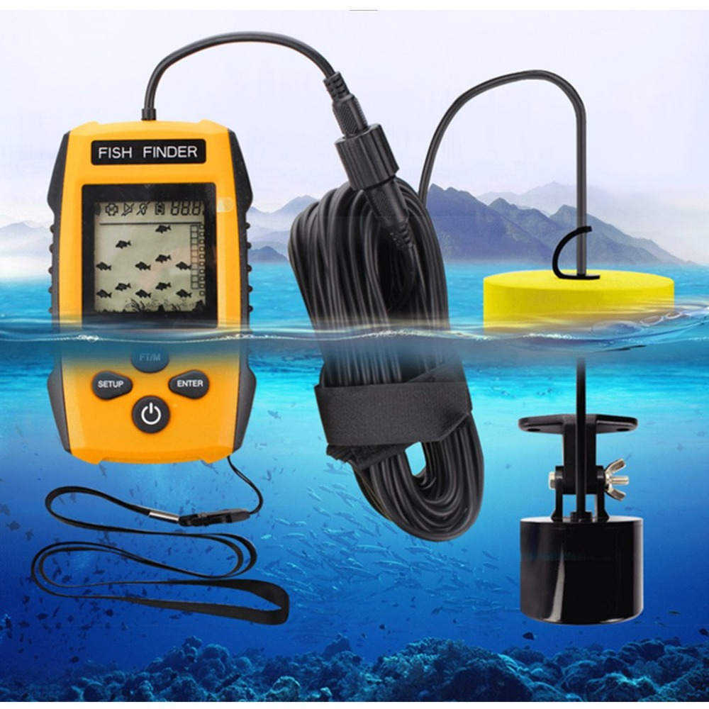 Portable Dot Matrix Fish Finder Wired Sonar Sensor Fishing Detector 0.7-100M Depth Sounder Alarm Lake Sea Fishing Tackle TL88EPortable Dot Matrix Fish Finder Wired Sonar Sensor Fishing Detector 0.7-100M Depth Sounder Alarm Lake Sea Fishing Tackle TL88E