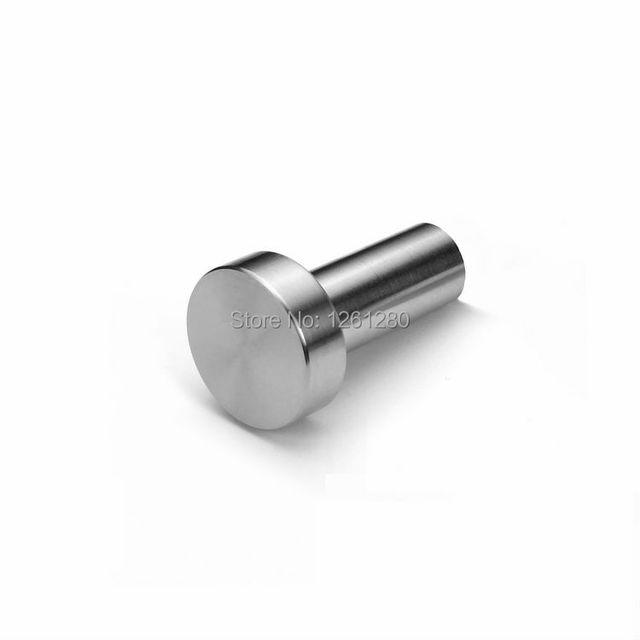 Frete grátis móveis alça alça gaveta do armário de aço inoxidável armário porta de hardware botão sólida DIY parte