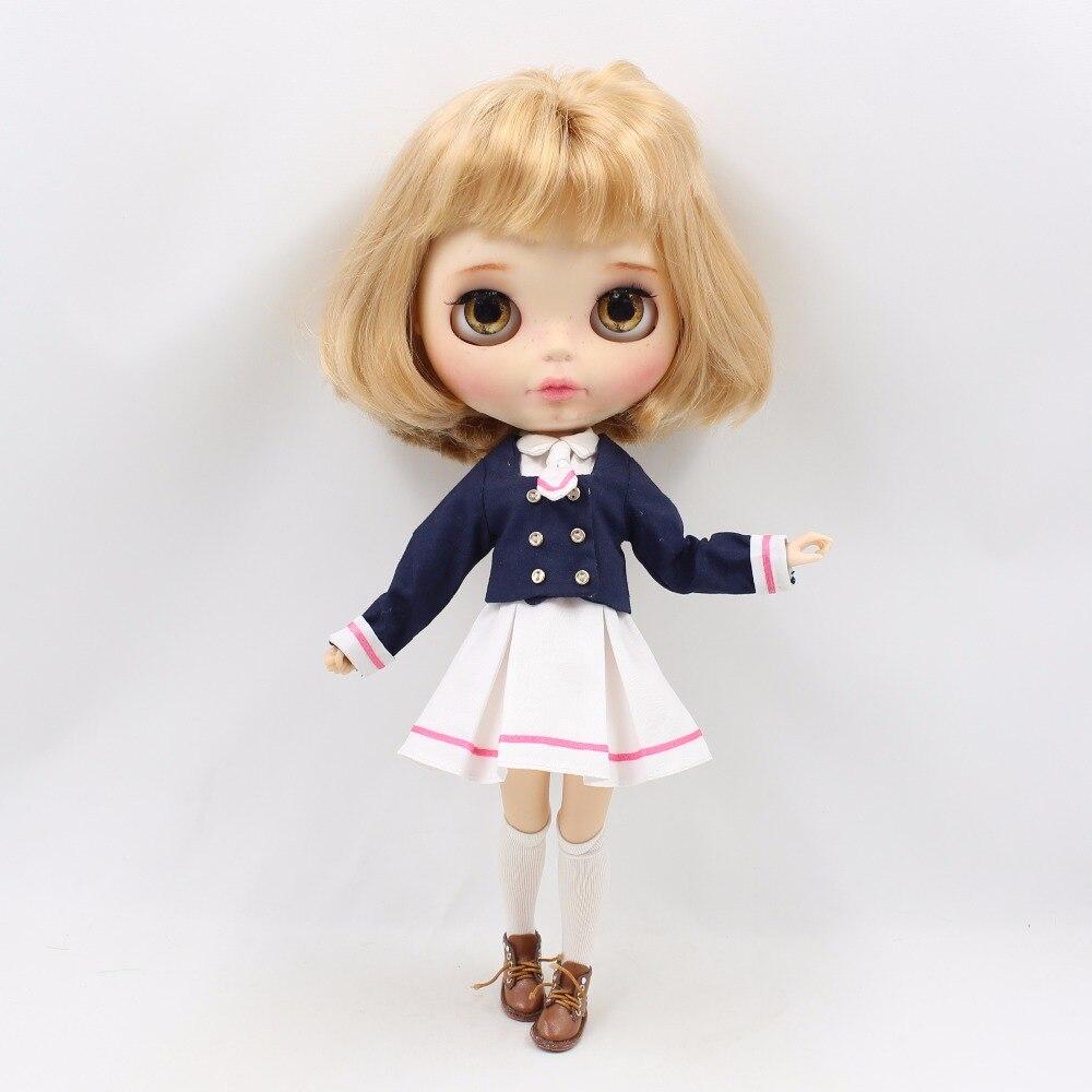 Neo Blythe Doll School Uniform Dress 4