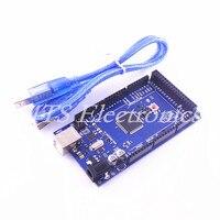 Free Shipping MEGA 2560 R3 MEGA2560 REV3 ATMEGA16U2 MU Board USB Cable Compatible For Arduino