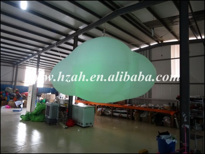 Event Decoration Customized Ceilling Inflatable Cloud With RGB Light