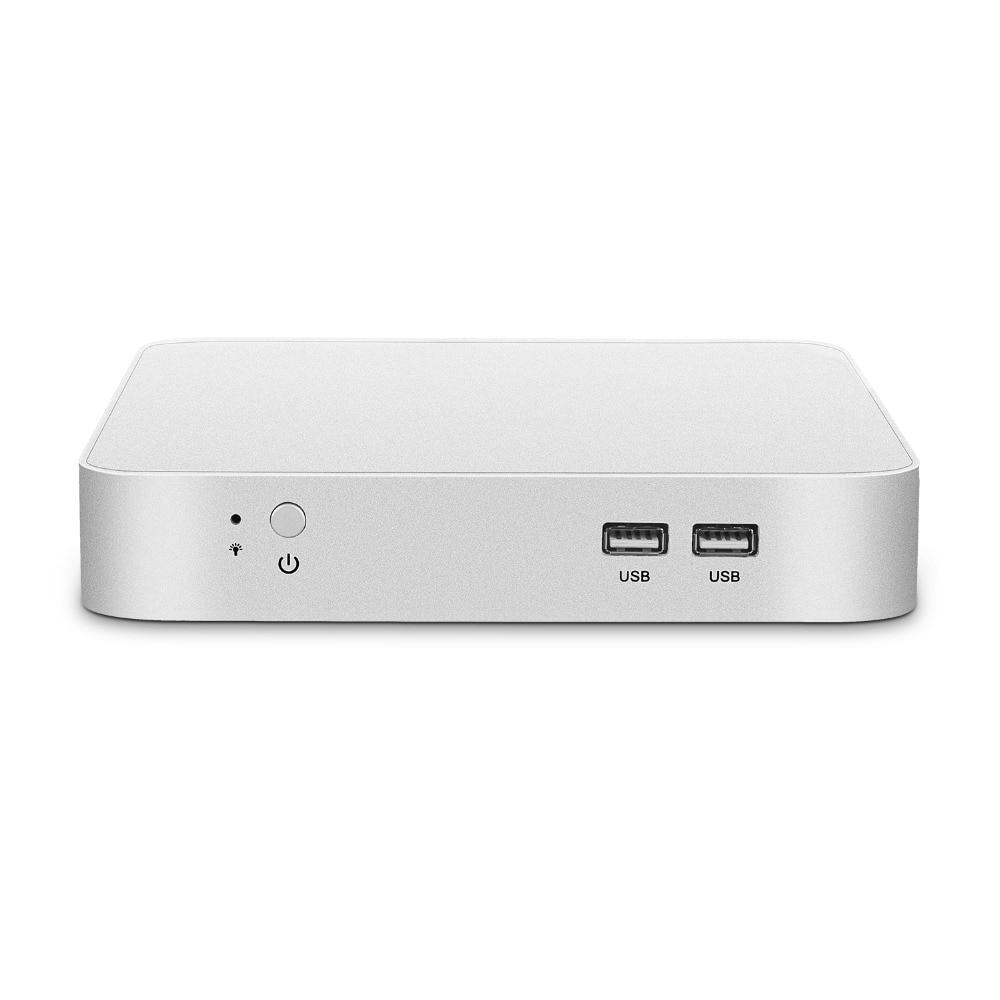 Мини ПК Intel Core i7 4500U 5500U 7500U Windows 10 мини настольный компьютер HDMI VGA WiFi Gigabit Ethernet 6xusb 4K HTPC