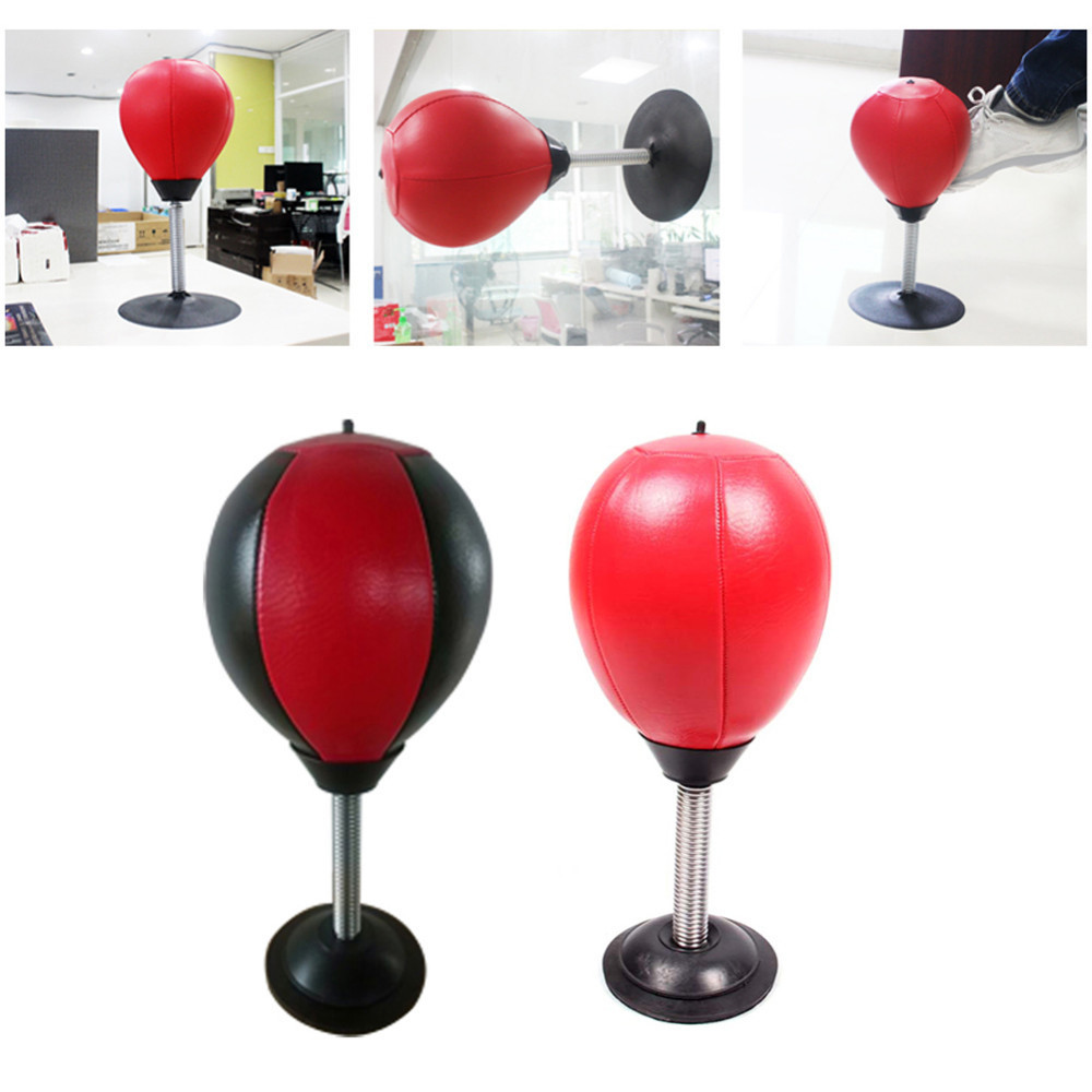 Desktop Punching Ball Suction Freestanding Reflex Speed Ball Boxing Bag Punching Pedestal Ball With Free Inflator Random color 4