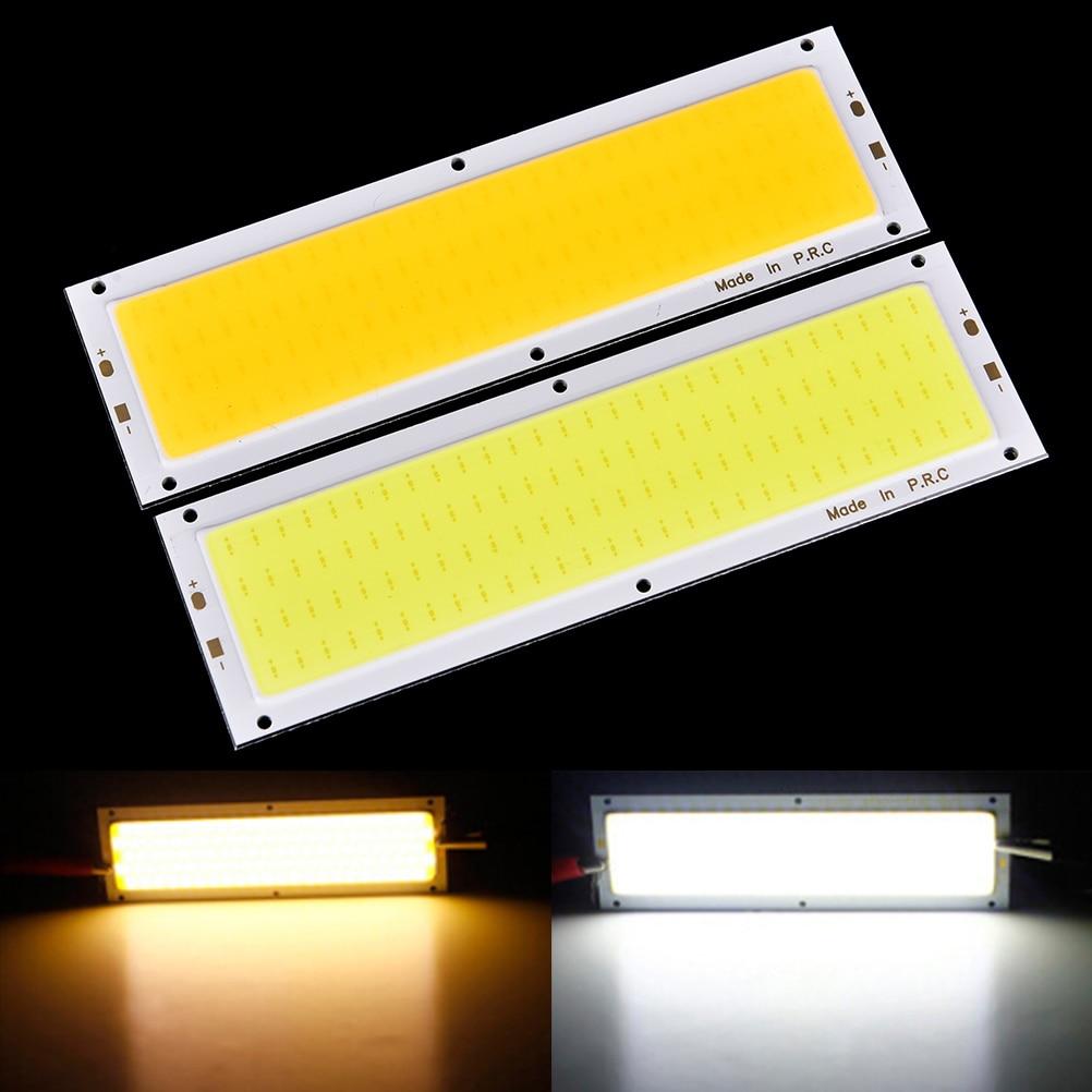 COB LED 1000LM 10W Square/ Strip Light High Power Lamp Bead Chip Warm/Cool White 12V-24V Lamp Bulb Car Light Source