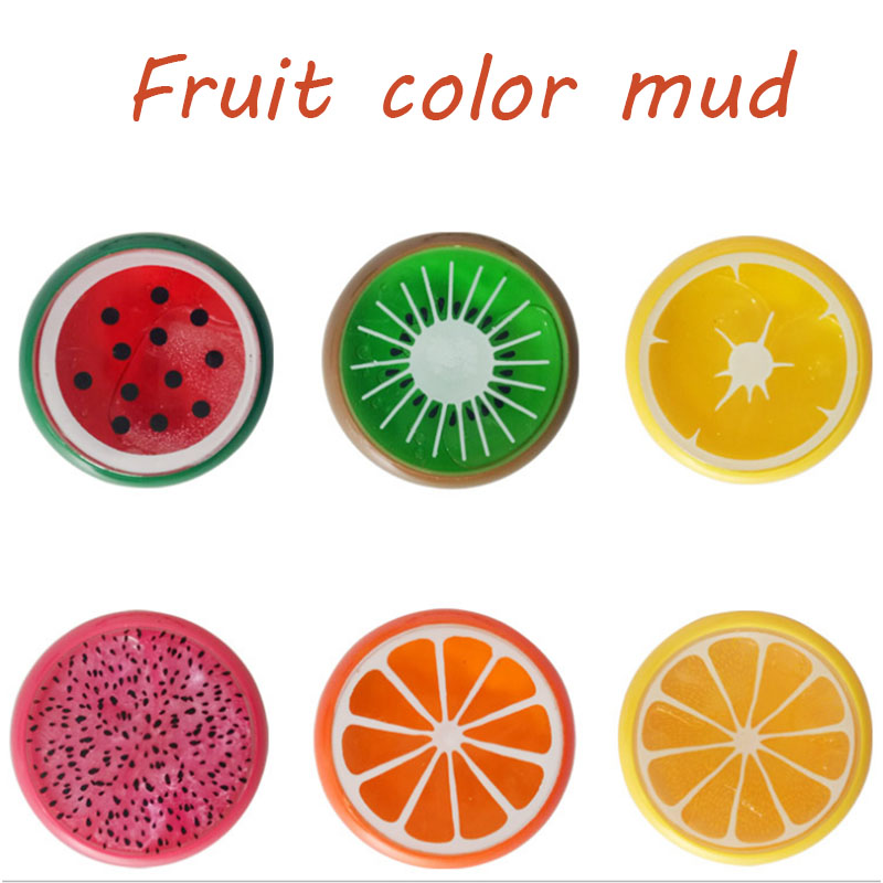 Mud Play dough Gift DIY Magic Crystal Slime Putty Polymer Clay Toy Soft Rubber Fruit Slime for Kids Intelligent Hand Plasticine