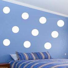 hot deal buy polka dot wall decals peel & stick big 12 cm wall dots large kids room free shipping