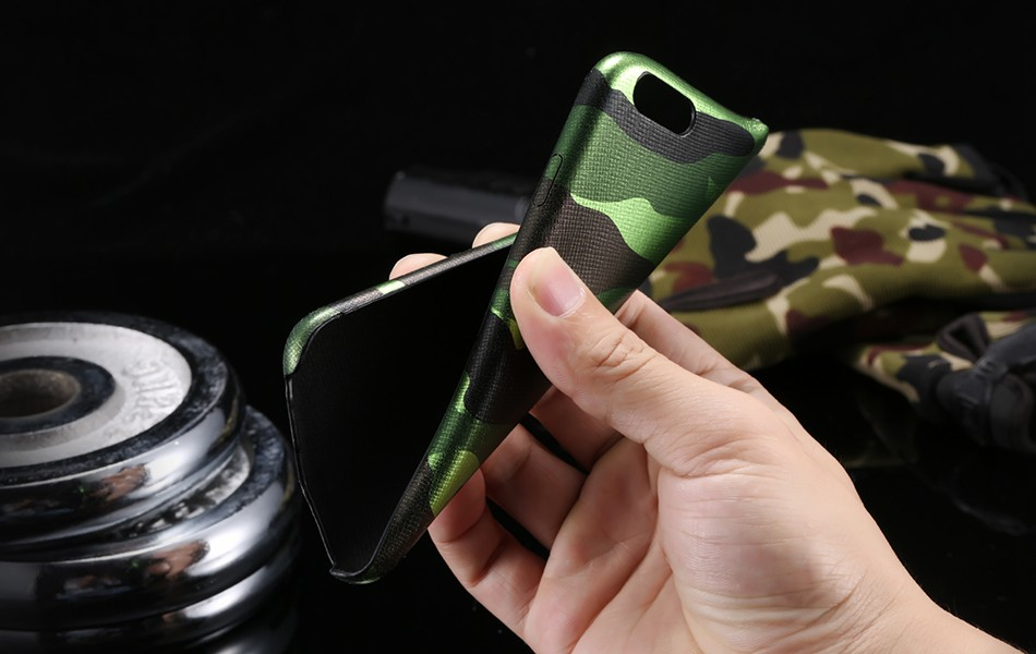 Dla iphone 7 5 5s se case wojskowy kamuflaż mężczyzn skórzane torby telefon sprawach dla iphone 7 7 plus pokrywa dla iphone 6 6s plus 5 5S se 20