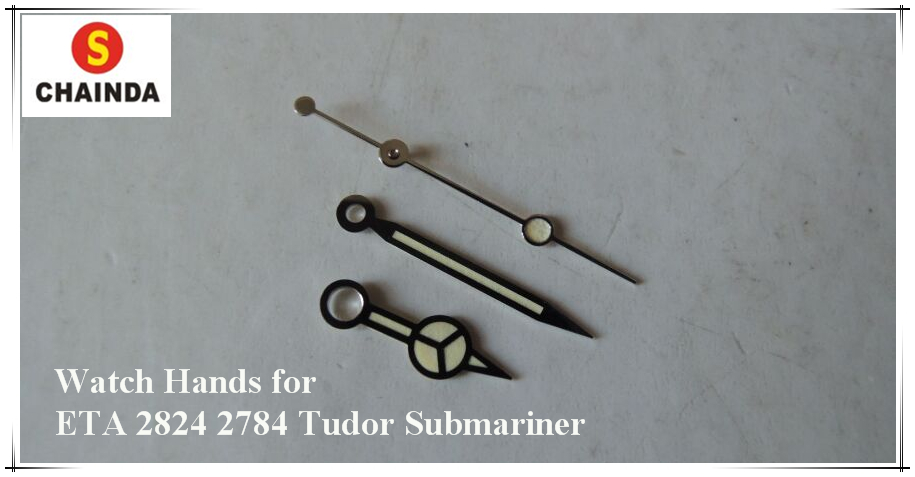 Free Shipping 1 Pair Vintage Silver/Gold Plated Watch Hands For ETA 2824 2784  Sub Mariner