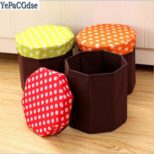 Creative Multi-function Non-woven Organization Storage Boxes Stool  Folding Box Finishing stool