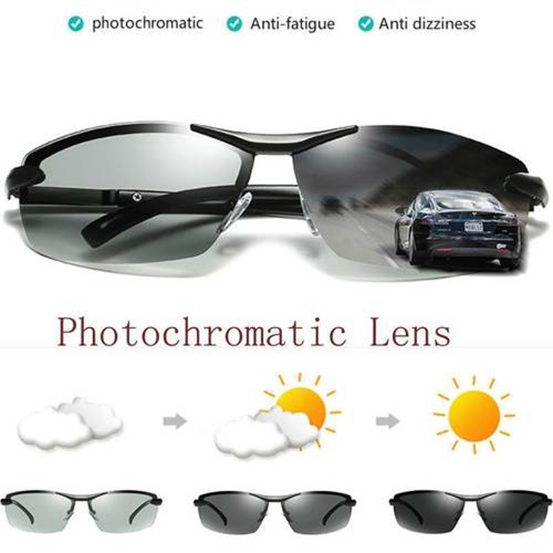 New Quality Men Sunglasses Polarized Photochromic Sunglasses Outdoor Driving motorcycle goggles motocross detachable goggles