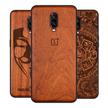 Carved Rose Wood Phone Case for Oneplus