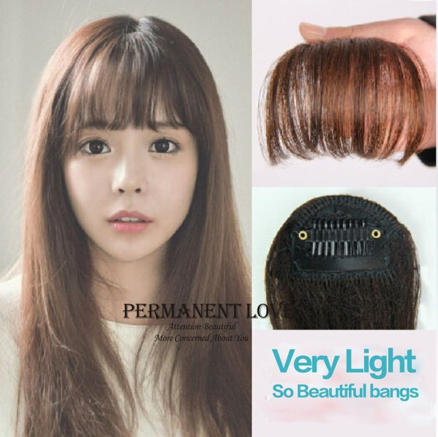 Front Hair Bangs Extension Clip In Hair Bangs Heat Resistance
