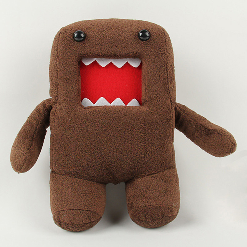 18cm 30cm 40cm Domokun Funny Domo-kun Plush Doll Children Novelty Creative Gift Kawaii Domo Kun Stuffed Toys for Kids shelf