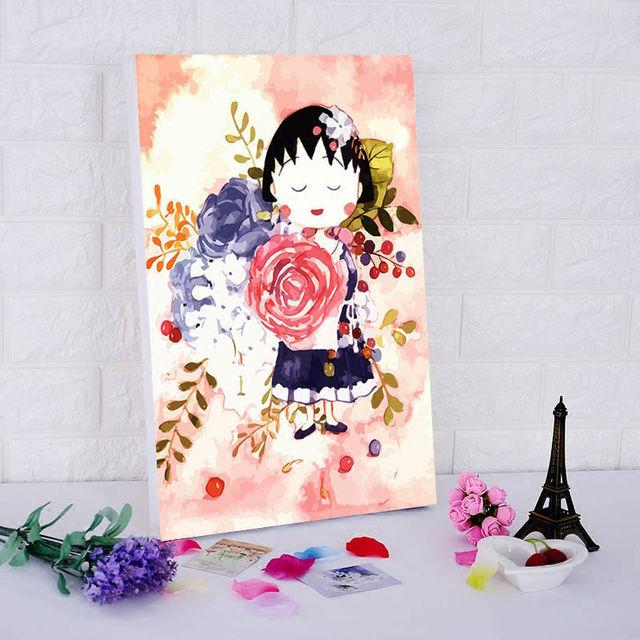 Mewarnai By Nomor Chibi Maruko Chan Sakura Momoko Digital