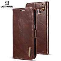 Case for Samsung Galaxy S7 Edge DG.MING 2 in 1 Luxury Leather Detachable Flip Wallet Cover for Samsung Galaxy S7 cases
