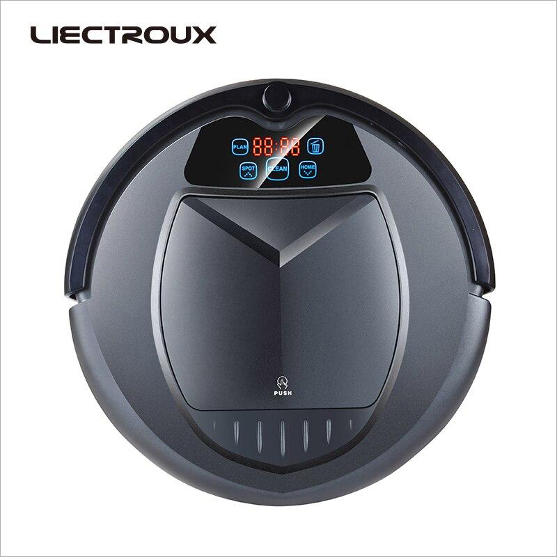 LIECTROUX B3000 PLUS,робот пылесос с танком для воды (влажная и сухая уборка) сенсорный экран, фильтр HEPA, настройка времени уборки,виртуальная стена, а...