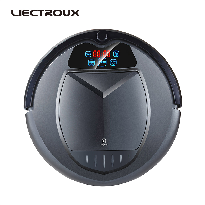 LIECTROUX B3000 PLUS Vide Robot De Nettoyage, avec Réservoir D'eau, Humide et Sec, withTone, Calendrier, virtuel Bloqueur, Self Charge, UV Stérilisation