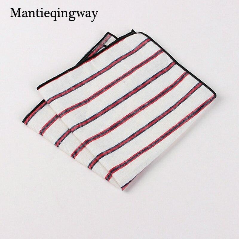 Mantieqingway Suits Cotton Flower Handkerchiefs For Mens Fish Pocket Square Striped Hankies Floral Business Pocket Towel Hanky