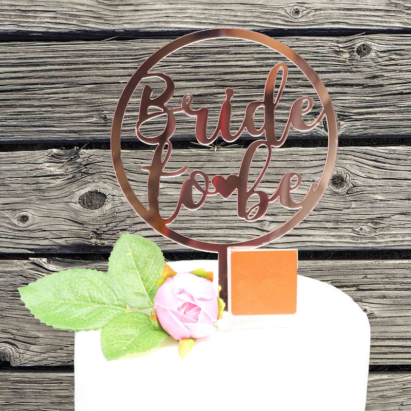 Oh Baby Birthday Cake Topper Mirror Rose Gold Acrylic Cake Toppers