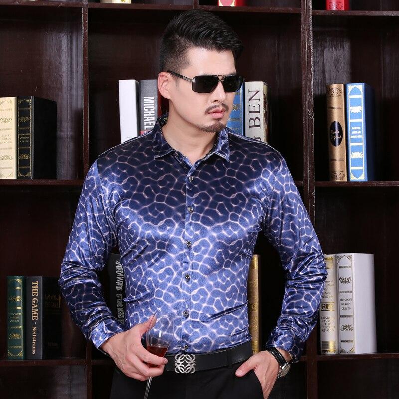 2016 New Arrival Mens Autumn Fashion Velvet Shirt Long Sleeve Formal Plaid Dress Shirt for Men