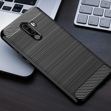 For Xiaomi Pocophone F1 Case Carbon Fiber Shockproof TPU Back Cover for Poco Silicone
