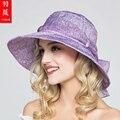 2016 Lady New Travel Sun Hats Fashion Canvas Casual Leisure Big Sun Hats Folding Fashion Sunscreen Beach Hats Adjustable B-3714