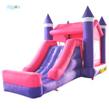Giant Super Dual Slide Combo Bounce House Bouncy Castle Nylon Inflatable Castle Jumper Bouncer for Home Used