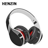 HENZIN Foldable Bluetooth Headset HIFI Stereo Wireless Headphone With Mic Support Mp3 FM Radio TF Aux