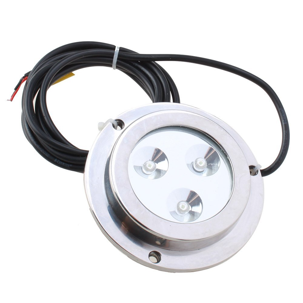 CNIM Hot 3*2w Green Stainless Steel IP68 Waterproof LED Marine Underwater Light Boat Yacht light