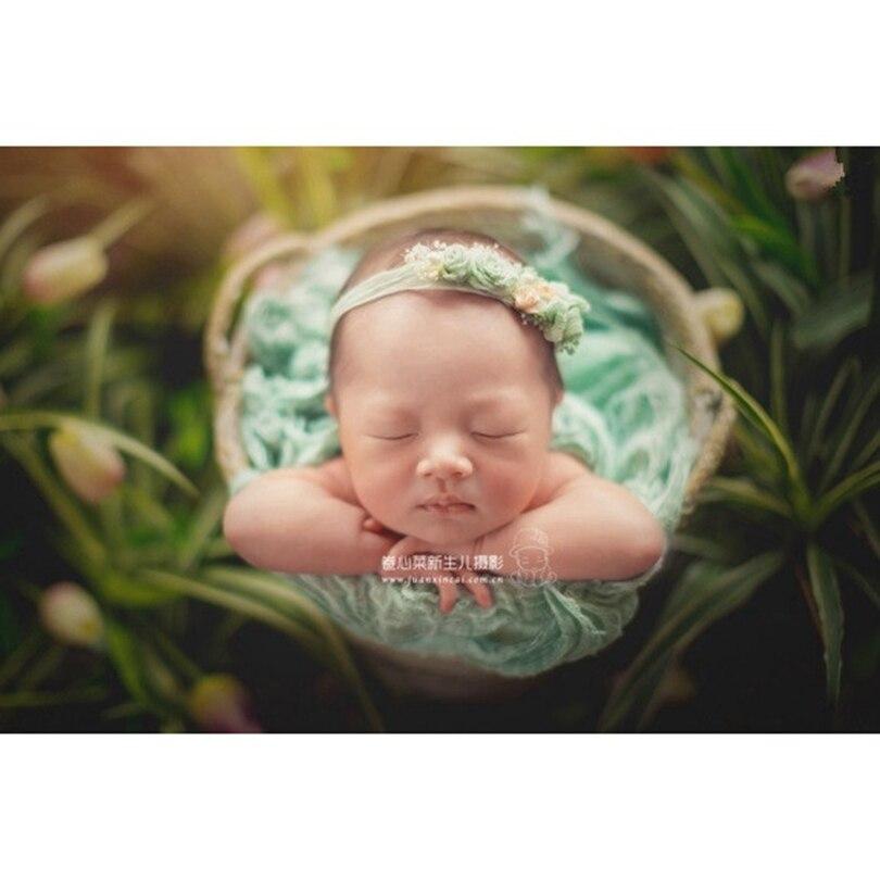 Recién Nacido cheesecloth wrap gasa algodón teñido manta bebé estiramiento tejido envoltura recién nacido fotografía props