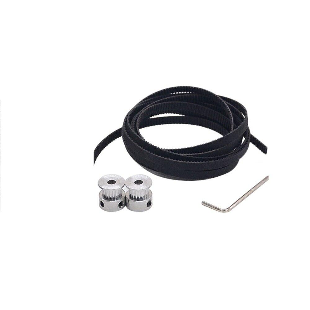 3D Printer Parts Accessory 2pcs 20 teeth GT2 Timing Pulley Bore 5mm + 2M GT2 timing Belt for 3D printer parts