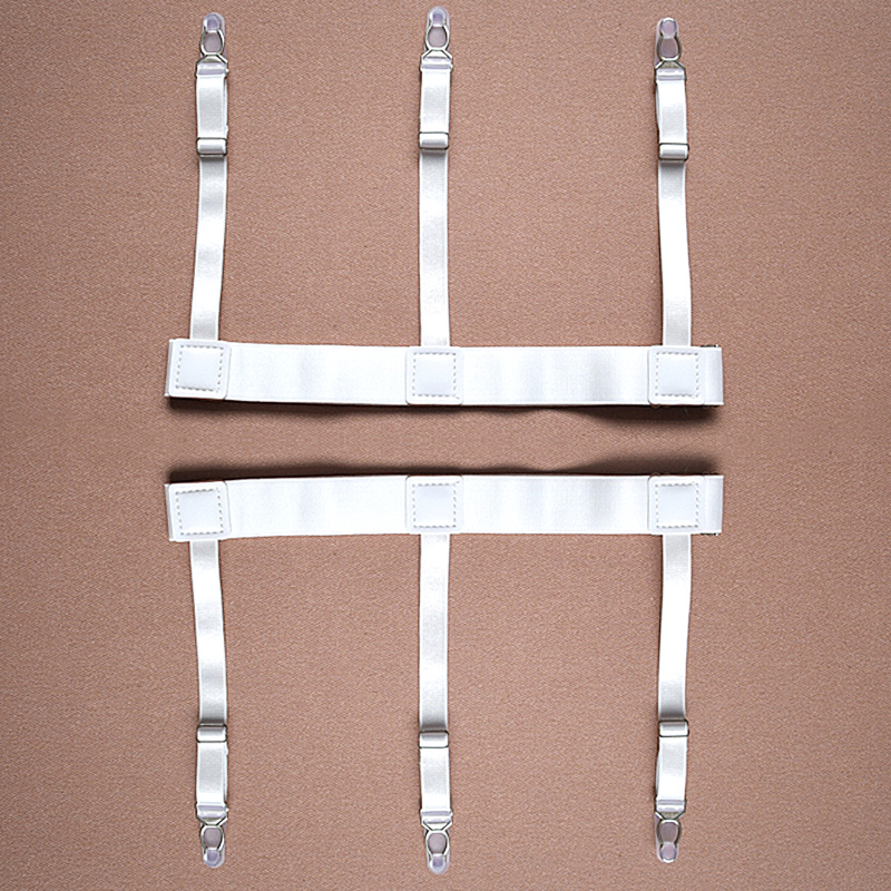 Apparel Accessories 1pair Men Women Adjustable Elastic Shirt Garters White Shirt Stays Holder Leg Suspenders Shirt Braces Gourd Buckle Shirt Garters Men's Suspenders
