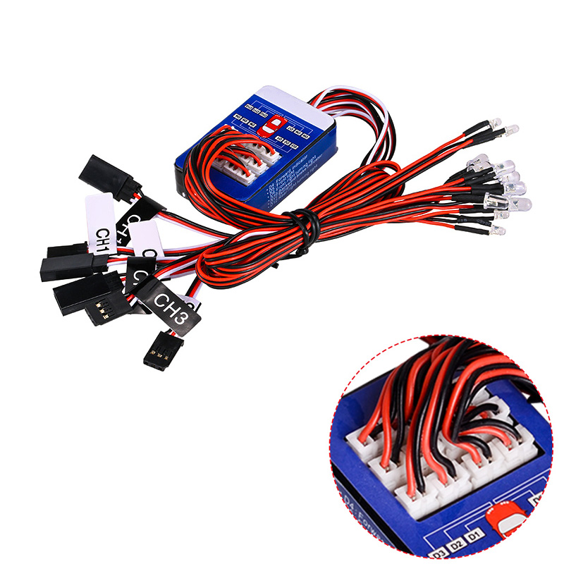 Rc 12 LED Lighting System Kit Smart Simulation Lights 1/10 Drift On Road RC Car Yokomo Tamiya Hop-up options Remote Control(China)