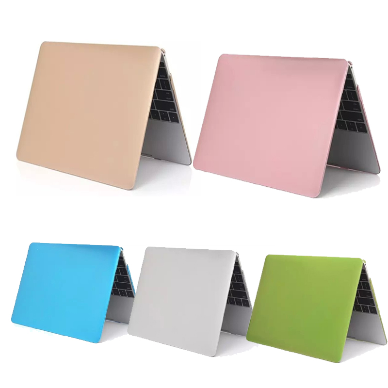 New For Coque Macbook Air 11 13 Pro Retina 13 15 Metal Colors PC Case Cover Funda For Macbook 12 Retina Laptop Sleeve Case