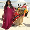 Kim Kardashian Dubai Muslin Evening Dress with Sleeve High Neck Crystal Chiffon Fuchsia Arbic Prom Dresses 2017 Vestido de festa