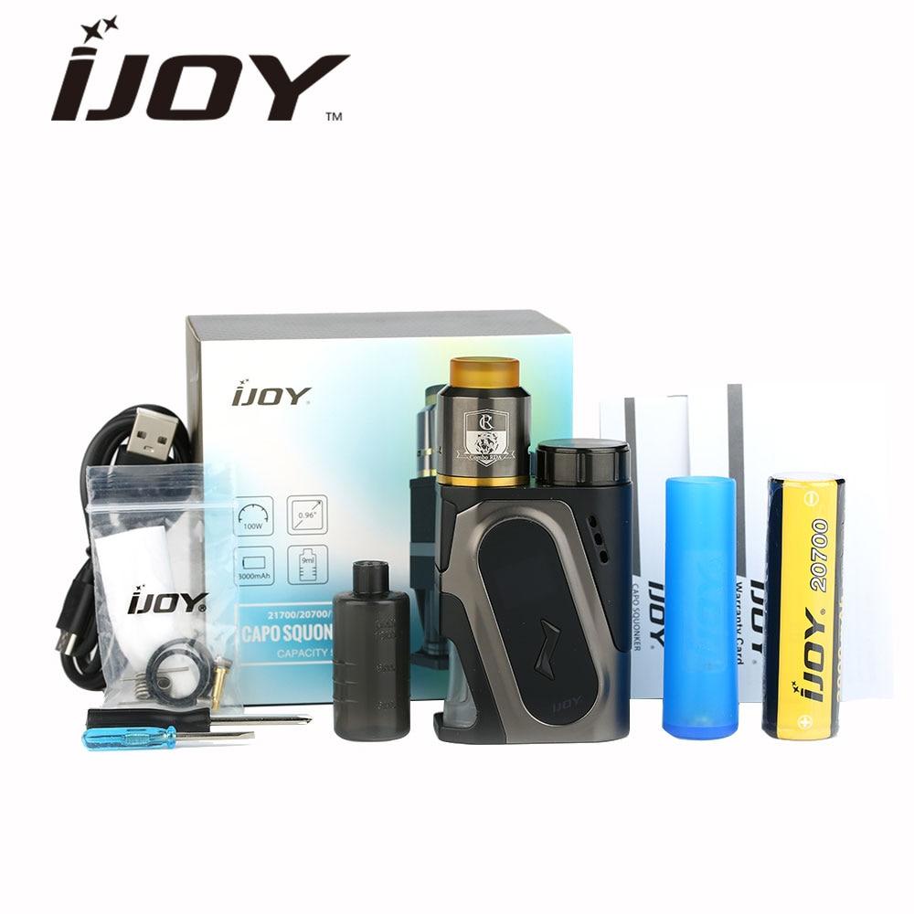 100 W IJOY CAPO Squonker Kit de Vape avec 3000 mAh 20700 Squonk MOD & COMBO RDA Triangle atomiseur Kit étanche e-cig Vs Kit Athena
