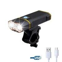 7000Lm Fahrrad Licht LED front Wiederaufladbare USB Fahrrad Licht Taschenlampe Radfahren Scheinwerfer Fahrrad lampe Gebaut in 18650 Batterie-in Fahrradlicht aus Sport und Unterhaltung bei