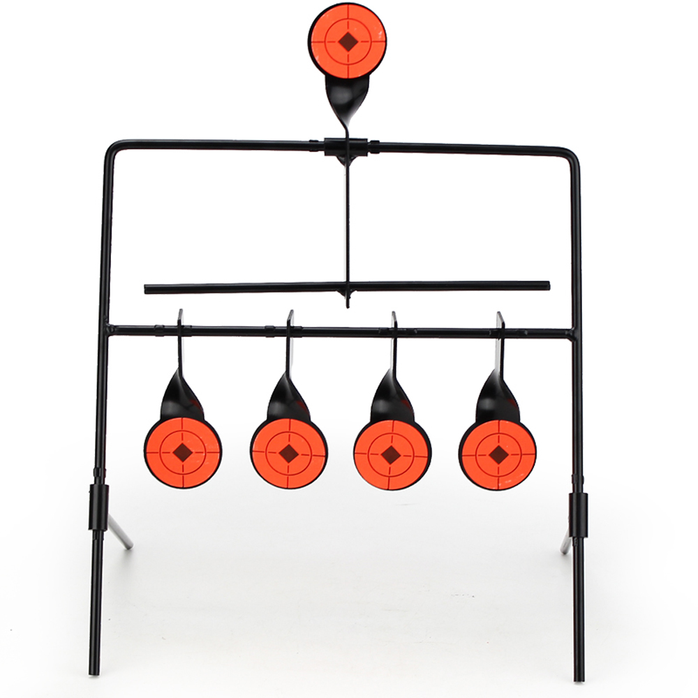 Shooting Target Metal Shooting Automatic Reset Rotating Indoor Outdoor Firing Set Useful Wst Target