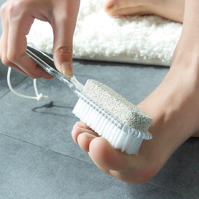 4 in 1 Multifunzione Pietra Pomice Esfoliante Foot Cleaner In Acciaio Inox Spazz