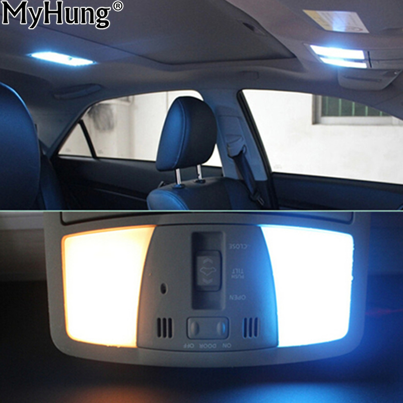 Parking LED Interior Light Bar Kit For Toyota Corolla 2003 To 2013 Car LED Dome Map Trunk Light Plate 6pcs Per Set Car Styling