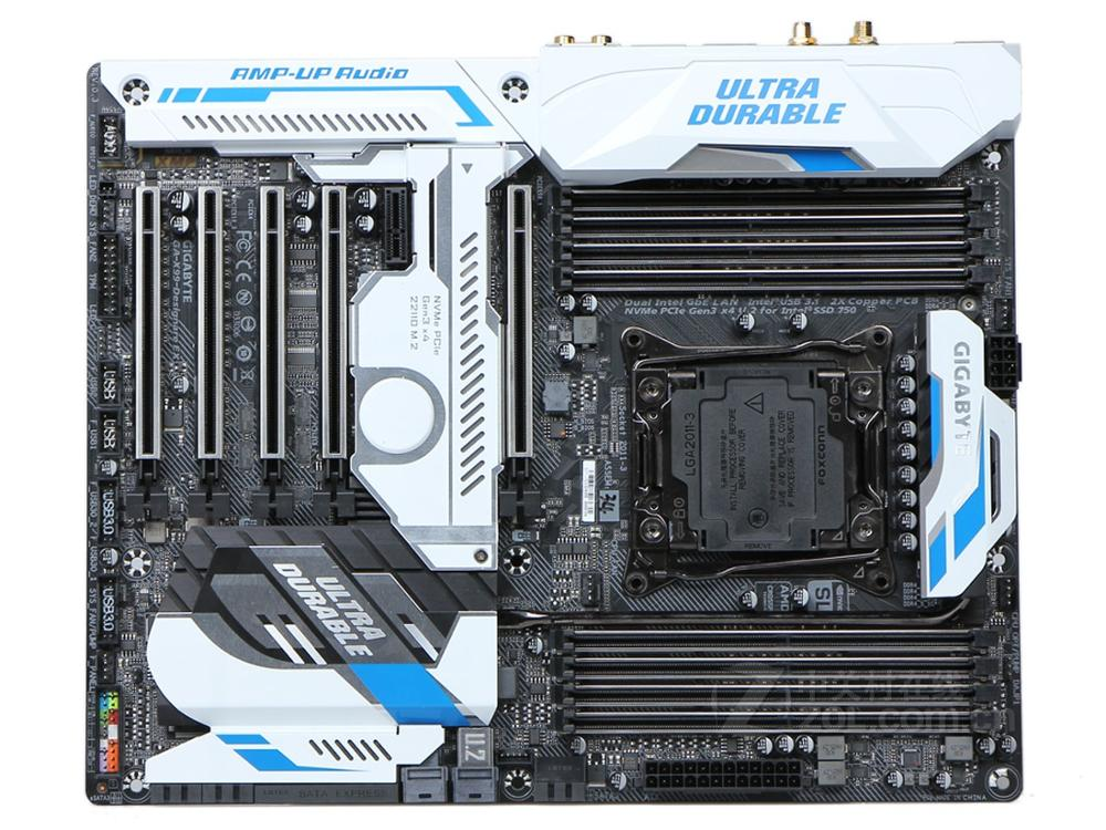 GIGABYTE X99-Designare EX Original Desktop Motherboard DDR4 LGA 2011-V3 I7 CPU 128GB GA-X99-Designare EX X99 Motherboard