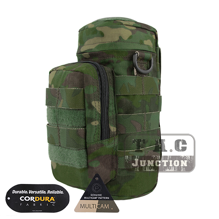 Emerson Tactical MOLLE H2O Hydration Water Bottle Carrier Pouch Kettle Utility Pocket EmersonGear Water Bag Waist Shoulder Packs emerson molle tactical edc gp op pouch emersongear military hunting airsoft utility accessories admin organizer waist packs bag