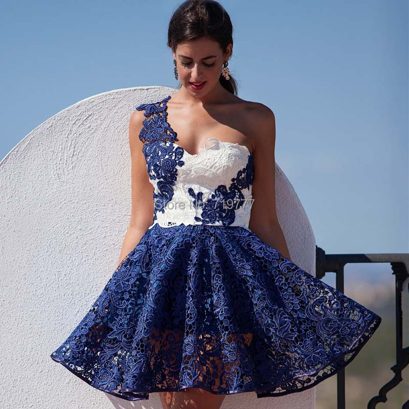 Aliexpress.com : Buy Nice Pretty Lace Dark Blue and White One ...